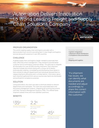 Global Supply Chain & Logistics Company