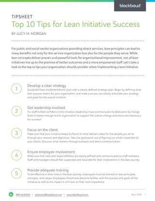 Top 10 Tips for Lean Initiative Success