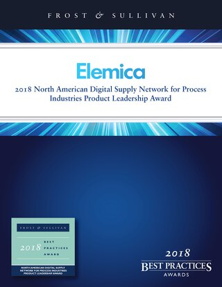 Elemica: 2018 North American Digital Supply Network for Process Industries Product Leadership Award