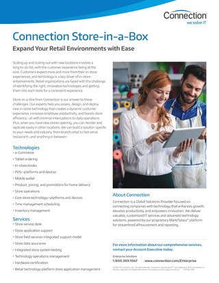 Connection Enterprise: Retail Store-in-a-Box