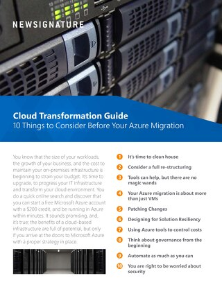 New Signature Cloud Transformation Guide 2018