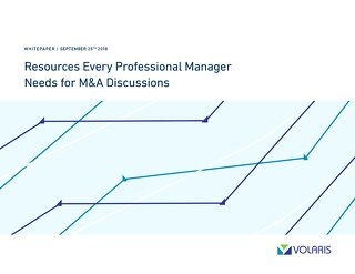 Resources Every Professional Manager Needs for M&A Discussions