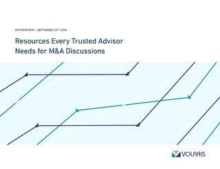 Resources Every Trusted Adviser Needs for M&A Discussions
