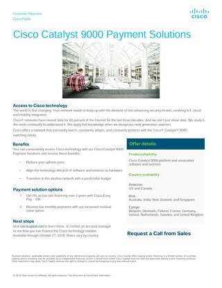 Cisco Catalyst 9000 Payment Solutions
