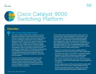 Catalyst 9000 FAQ