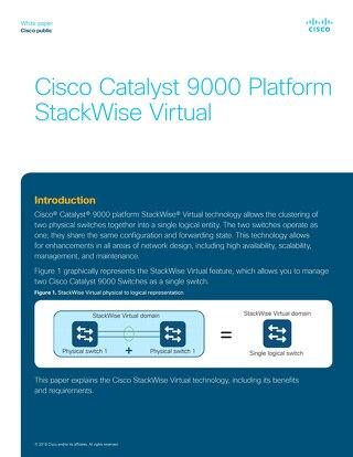 Cisco Catalyst 9000 Platform StackWise Virtual white paper