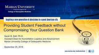 Providing Student Feedback without Compromising Your Question Bank