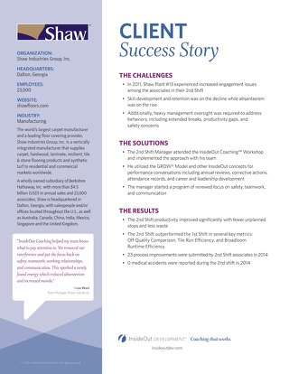Improved Employee Satisfaction and Retention: Shaw's Success Story