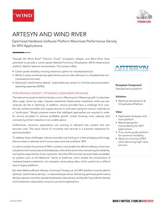 Artesyn and Wind River