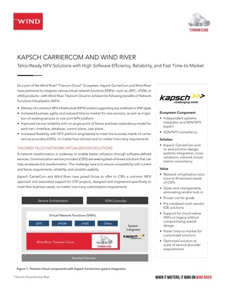 Kapsch CarrierCom and Wind River
