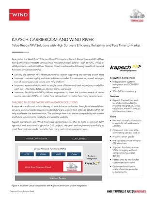 Kapsch CarrierCom and Wind River