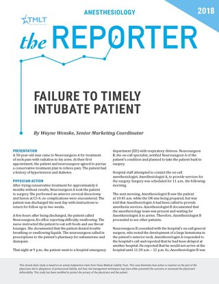 Reporter 2018 Anesthesiology