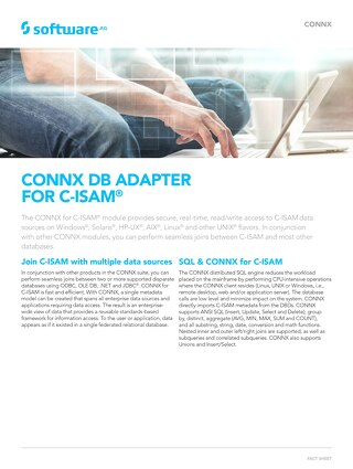 CONNX DB Adapter for C-ISAM®