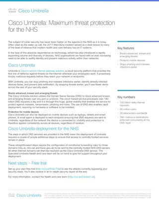 Cisco Umbrella: Maximum threat protection for the NHS