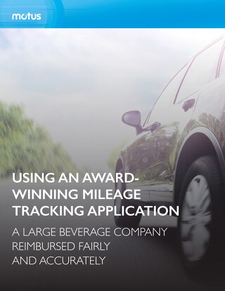 Large Beverage Company Uses Award-Winning Mileage Tracking Application
