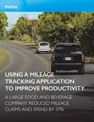 Large Food and Beverage Company Uses Mileage Tracking Application to Improve Productivity