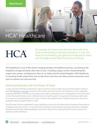 Customer Spotlight: HCA Healthcare