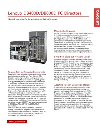 ThinkSystem DB400D and DB800D Datasheet