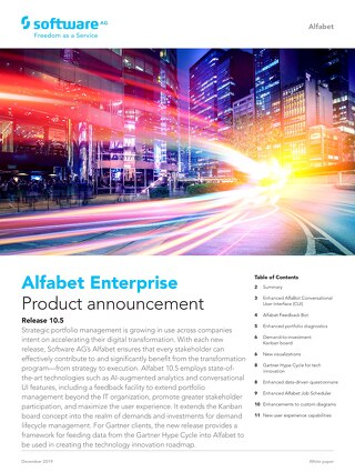 What's new in Alfabet 10.3