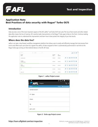 Best Practices of Data Security with Rogue Turbo OLTS