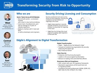 Edgile - Microsoft Gold Security Partner