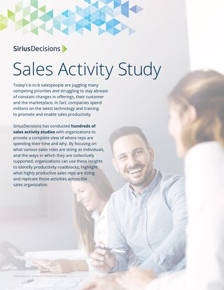 The SiriusDecisions Sales Activity Study