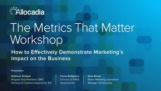 Workshop Slides - The Metrics that Matter