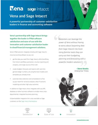 Vena and Sage Intacct