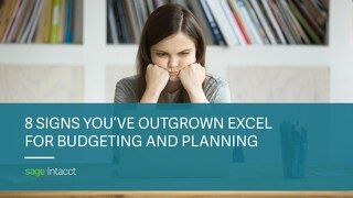 8 Signs You Have Outgrown Excel for Budgeting and Planning