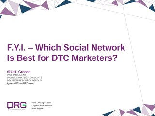 Which Social Network is best for DTC Marketers?