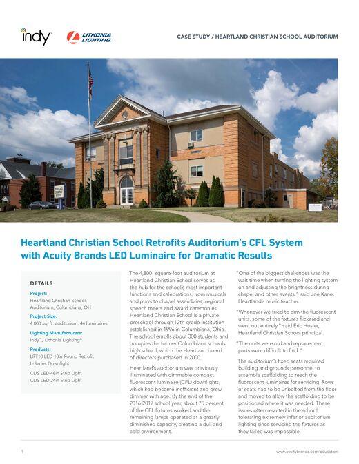 Heartland Christian School Auditorium Case Study