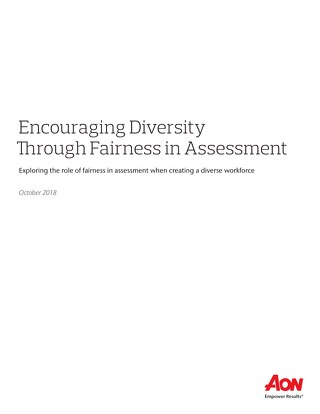 Encouraging Diversity Through Fairness in Assessment