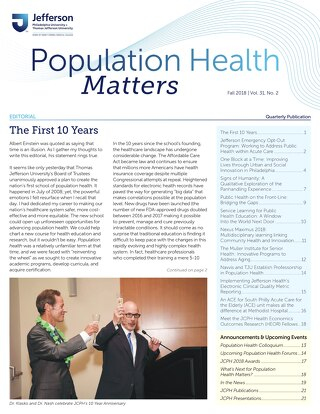 Population Health Matters Fall 2018
