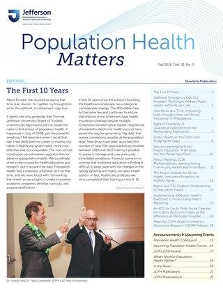 Population Health Matters Fall 2018