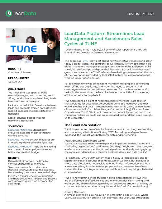 Tune Case Study