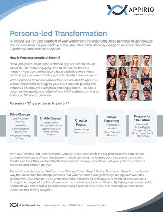 Persona-led Transformation