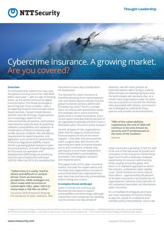 Thought Leadership Cybercrime Insurance
