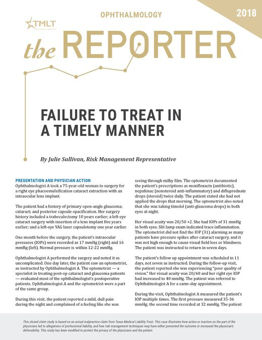 Reporter Ophthalmology 2018