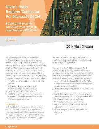 Nlyte SCCM Connector Datasheet