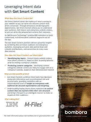 Get Smart Content - Partner Information Sheet