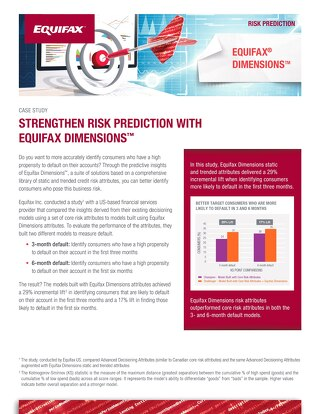 Strengthen Risk Prediction with Equifax Dimensions
