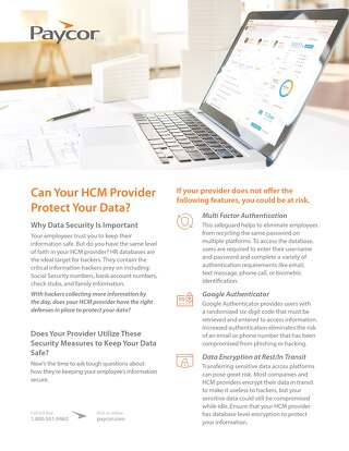 Can Your HCM Provider Protect Your Data?