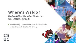 "Finding Hidden ""Donation Waldos"" in Your School Community"