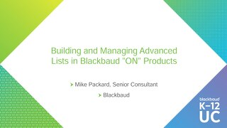 Building and Managing Advanced Lists in ON Products