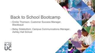 Back to School Bootcamp