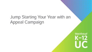 Jump Start Your Year with an Appeal Campaign
