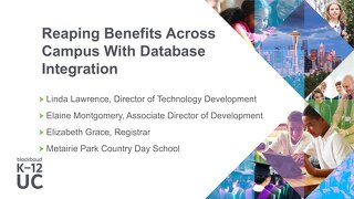 Reaping Benefits Across Campus with Database Integration