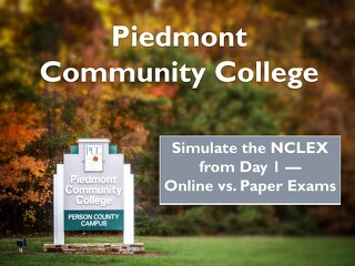 Simulate the NCLEX from Day 1 — Online vs. Paper Exams