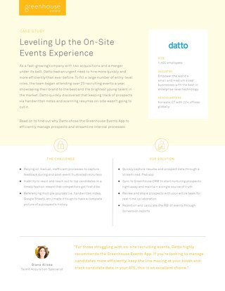 Datto: Leveling Up the On-Site Events Experience