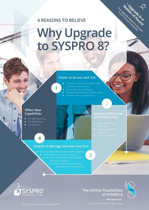 SYSPRO 8 Why Upgrade Infographic
